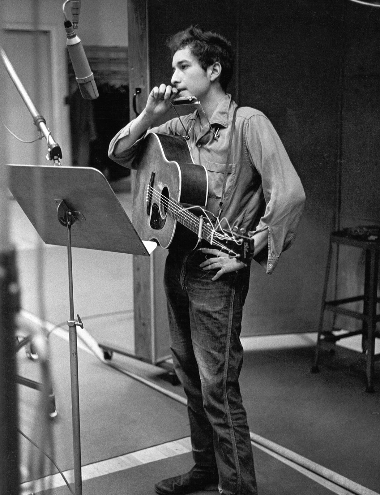 Dylan in the studio